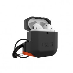 UAG Apple Airpods Silicone Case- black/orange
