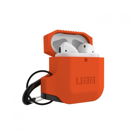 UAG Apple Airpods Silicone Case- Orange/Grey