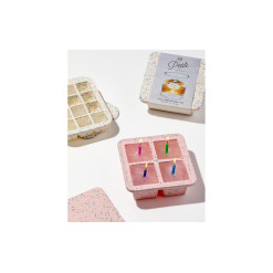 W&P Design Eiswürfelform Speckled Extra Large Ice Tray Pink